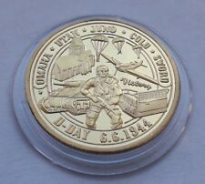 WWII D-Day Normandy Landings 70th Anniversary Gold Plated Medal Coin - charity