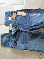 NEW GUESS VERMONT SLIM TAPERED JEANS MENS 34X32 MONSOON WASH  FREE SHIP