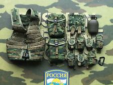 DAMTOYS ruso Airborne PKP artillero 6SH112 Conjunto de correas MOLLE Suelto Escala 1/6th