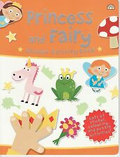YOUNG CHILDREN'S STICKER ACTIVITY COLOURING PUZZLE BOOK - PRINCESS AND FAIRY