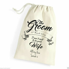 Personalised Gift Bag for The Groom To Be Wedding Day, Morning Wife to be gift