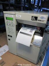 Zebra 105SL 10500-200E-0030 Thermal Barcode Label Printer Serial Network RJ45