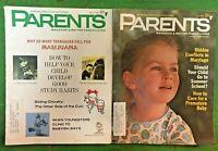 PARENTS MAGAZINE Lot of 2 1969 March June, Raising Children, Vintage Sweet Ads
