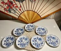 "NEW Authentic MEISSEN 6.5"" Blue Onion Scalloped Snack Plate Double Swords WOW!"