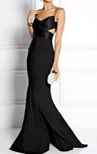$2,795.00 Narcisco Rodriguez Cutout Silk Black Long Maxi Dress Gown 2 4 / IT 40