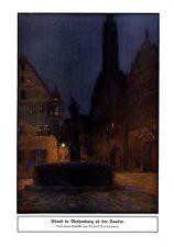 Rudolf Poeschmann Abend in Rothenburg ob der Tauber Historischer Kunstdruck 1920