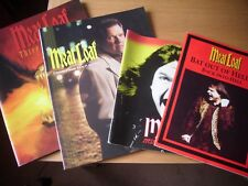 meatloaf tour programmes neverland express three bats said it better out of hell