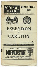 1962 Grand Final football Record Essendon vs Carlton