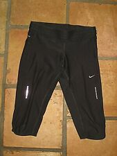 NIKE DRI-FIT BLACK CAPRI BLACK RUNNING PANTS WOMENS SIZE MEDIUM