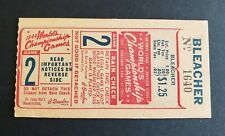 St. Louis Browns vs St. Louis Cardinals 1943 World Series ticket stub - Game 2