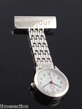 Montre Infirmière / Style montre suisse / Avec Epingle façon broche/ Tout Acier