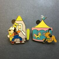 Flexible Characters Mini Pin Boxed Set - Pluto & Goofy 2 Pins Disney Pin 61163