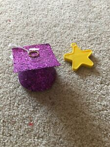 PURPLE GLITTER GRADUATION CAP BALLOON WEIGHT - USED ONCE PARTY CITY YELLOW STAR