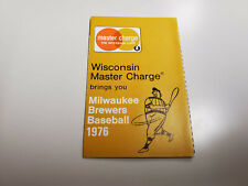 RS20 Milwaukee Brewers 1976 MLB Baseball Pocket Schedule - Master Charge