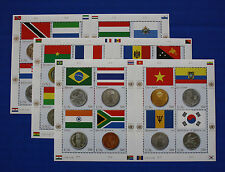 United Nations - 2007 Flags & Coins MNH sheet set