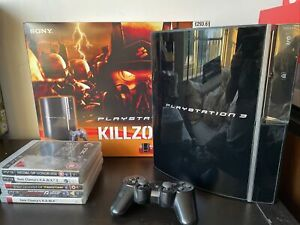 Playstation 3 PS3 Console Killzone 2 80gb Black Boxed With 5 Games