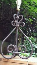 Early Century Iron Table Lamp Custom Sculpted Metal Goth Art Nouveau Large Light