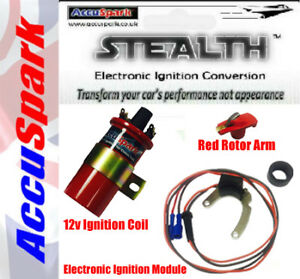 Ford Essex V6 for Motorcraft Stealth Electronic Ignition Kit, Red Rotor & Coil