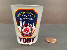 City of New York Fire Dept Frosted Collector Shot Glass 2006