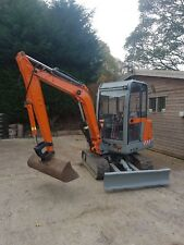 2.5 ton Mini digger hire with driver