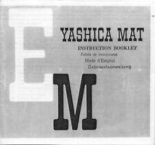Yashica Mat Em Instruction Manual photocopy English French German Spanish