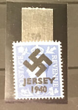 More details for gb kgvi 1d blue swastika overprint forgery mm