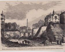 1868  --  PARIS PERCEMENT LA RUE PORTALIS  DERRIERE EGLISE SAINT AUGUSTIN  3B720