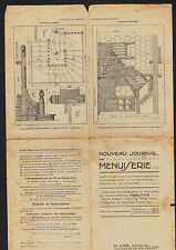 """DOURDAN (91) IMPRIMEUR EDITEUR ,JOURNAL de MENUISERIE """"C. JULIOT / H. VIAL Succ"""""""