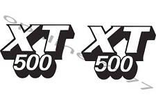 2 STICKER AUTOCOLLANT RESERVOIR YAMAHA 500 XT 500XT 12 CM