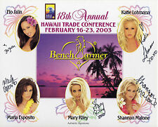 2003 BENCHWARMER 8x10 HAWAII TRADE CONFERENCE 5x AUTO PROMO **MARY RILEY** RARE!