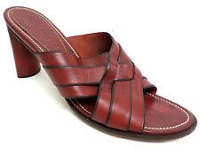 COLE HAAN Size 8 Red Slide Heels Sandals Shoes