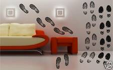 12 ensembles Chaussure Motifs art mural autocollant vinyle chambre d'enfant
