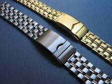 METAL WATCH BAND STAINLESS OR GOLD  18MM OR 20MM WIDTHS