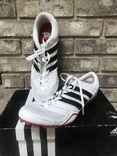 New Adidas Spider Running track spikes G18466 White Black Red Mens Sz 11