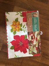 pioneer woman poinsettia table runner kitchen dining Christmas  NEW