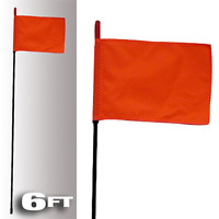 Firestik Black Fire Stick W/Orange Safety Flag - 6Ft P/N F6-Black-8120R