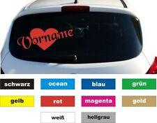 Herz mit eigenem Wunschnamen Auto Aufkleber Sticker Heckscheibe Höhe 5 cm