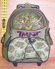 """TMNT Teenage Mutant Ninja Turtles 16"""" School Roller Backpack Rolling Bag *READ*"""