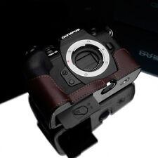 New GARIZ Olympus E-M1 II Leather Half Case Brown For Olympus OM-D E-M1 II