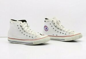 Converse All-Star Bianco Alte Usate EUR 42.5 UK 9 Mens 9 (Cod.SS2764) Unisex