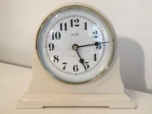 Acctim Cream Coloured Quartz Battery Mantle Mantel Clock