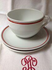 Porcelaine d'Auteuil Service Bistrot :  Soucoupe / Sous tasse pour grand bol