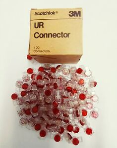 3M Scotchlok Butt Connector/UR Connector RED  (ORIGINAL) in of  Box 100