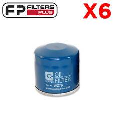 6 x WZ79 Wesfil Oil Filter - Ford, Great Wall, Holden, Honda, Hyundai - Z79A