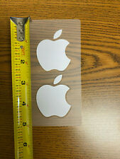 Apple stickers white two per sheet brand new 2.5""