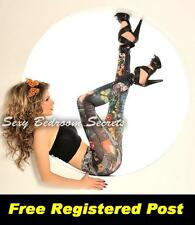 LEGGINGS Black Tattoo Design