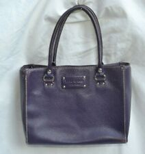 KATE SPADE AUTH $399 Women's Purple Pebble Leather Wellesley Quinn Satchel