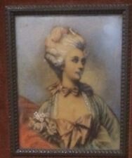 Antique Miniature Painting Portrait of a Lady