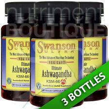Swanson Ultra Ultimate Ashwagandha Ksm-66 250 mg 3X60 Veg Caps Organic