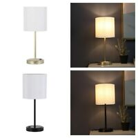 USB TABLE LAMP White Drum Shade Lampshade Multiple Colors